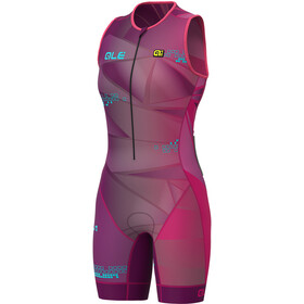 Alé Cycling Triathlon Hawaii Unitard Manga Corta Mujer, purple